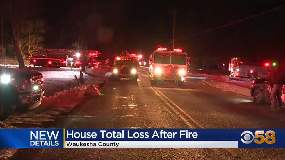 Home in Waukesha County a total loss after fire on Oakdale Drive